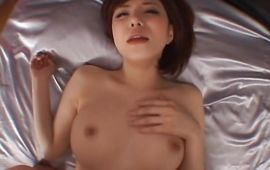 Extraordinary big breasted Yuria Satomi with wet cunt receives a strong meat rocket