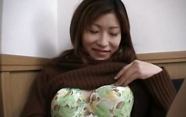 Swingeing bosomed mature girlfriend Ichiya Kazumi readily rides a wang