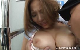 Admirable older Ruri Saijo ready for greater amount sex