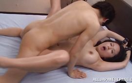 Breathtaking big titted mature Miki Sato is deepthroating like a pro hooker during an sex adventure