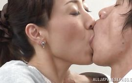Bewitching mature Mako Morishita came home from work and got down and dirty with male