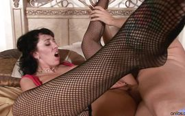 Wicked gal Alia Janine is eagerly sucking a huge slim jim previous to riding it like a whore