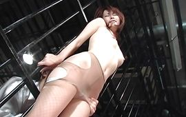 Naughty housewife Jun Nada got team-fucked while she was playing with her tits
