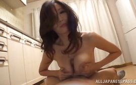Shameless big titted mature JULIA gets her skinny lovebox smashed hard