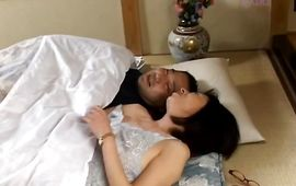 Magical whore Makiko Miyashita is fucking with guy while her husband is out of town
