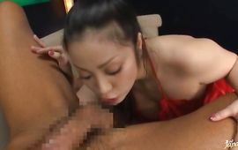 Elegant aged Minako Komukai with great tits gives head previous to enduring the donga in the snatch
