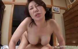 Astonishing mature Wako Anto got fucked in many positions until she started moaning and screaming from joy
