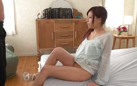 Immodest bimbo Chihiro Akino with large tits got her daily dose of rough fuck while she was alone
