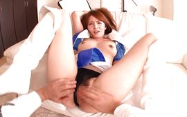 Sex appeal breasty Miku Ohashi got her daily dose of sex from bf