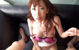 Lusty diva Manami Chihiro with firm bazookas is getting screwed very hard from the back