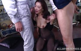 Shameless older floosy Marina Matsumoto will brake his shaft that's off for sure