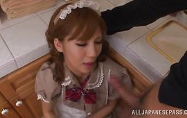 Mature Anna Anjo is attractive and enjoys riding a huge wang