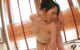 Enticing bosomed girlfriend Azusa Nagasawa blows and rides perverted male