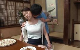 Magical older Kaoru Namiki receives a passionate spooning from her stylish boyfriend
